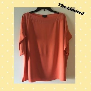 💞New💞 The Limited Peach Silky Blouse XL